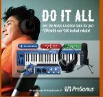 Presonus Audiobox Creation Suite with Midi Keyboard, Headseat, Mic, and Software