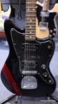 Fender Blacktop Limited Edition HH Jazzmaster Black with Racing Stripe