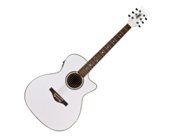 Daisy Rock Guitars Wildwood Artist Acoust Electric White