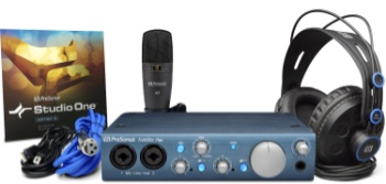 Presonus Audiobox iTwo Pack with HD7 Headphones M7 Mic and Studio One Software
