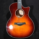 TAYLOR LTD 614ce quilted maple and desert sunburst