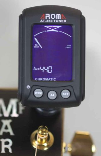 Chromatic clip on guitar tuner