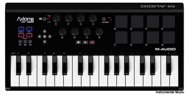 Axiom Air Mini 32 key controller with pads and knobs