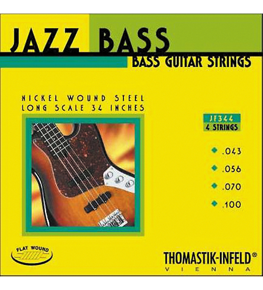 Thomastik JF344 Jazz Flat Wound Long Scale Bass Strings
