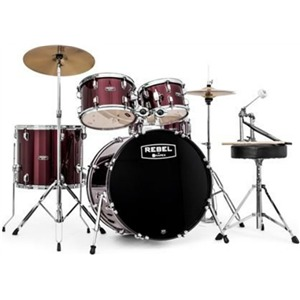Mapex Rebel 5 Piece Complete Drum Kit Red