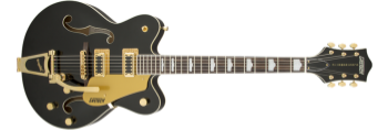 Gretsch G5422T Electromatic Double Cutaway Hollow Body, Limited Edition Black with Gold Hardware